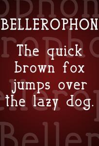 Bellerophon font demo