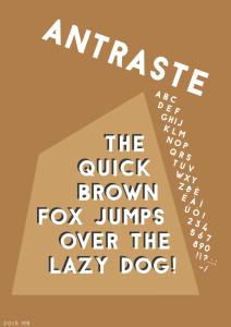 Antraste font poster